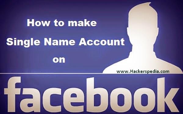 single facebook account name 2015
