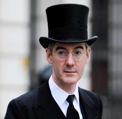 Rees-Mogg in top hat