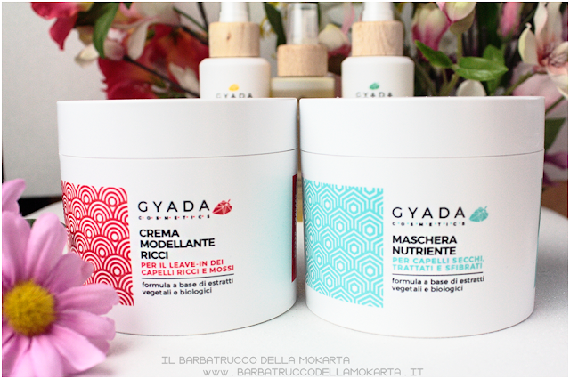 maschera capelli nutriente  crema modellante gyada cosmetics, vegan bio, capelli hair routine