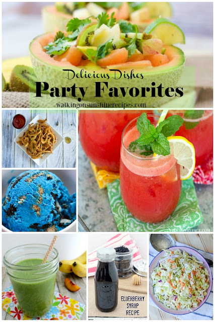 Delicious Dishes Recipe Party Favorites featured on Walking on Sunshine Recipes.