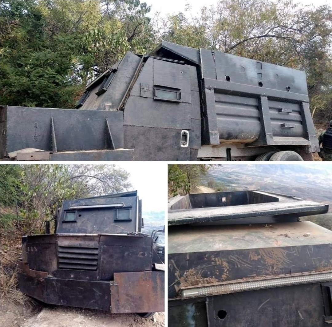 Fotos; Aseguran Camión Monstruo del CJNG en el Aguaje; Michoacán