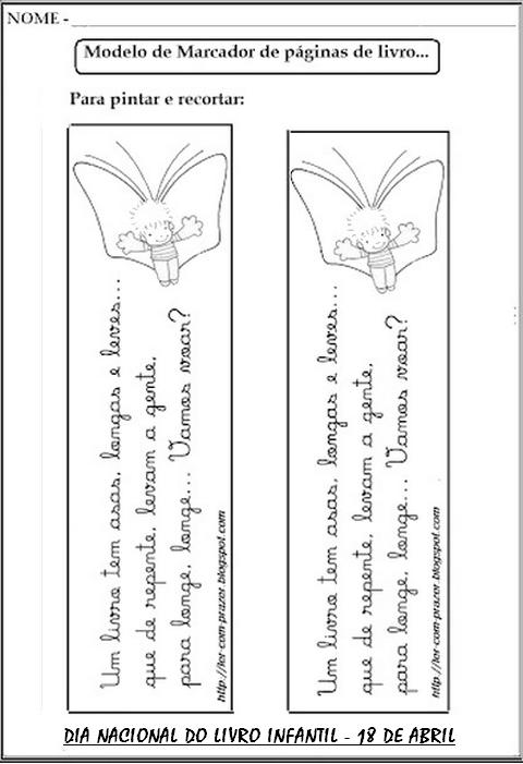Dia Do Livro Infantil Atividades Exercicios Alfabetizacao Desenhos