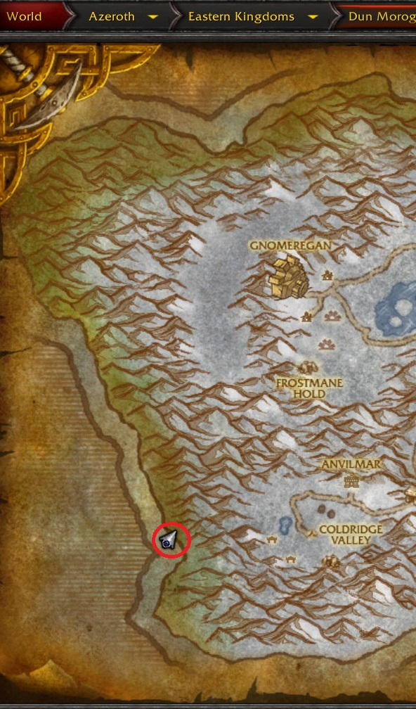 WoW Hidden Places and Secrets: The hidden dock in Dun Morogh