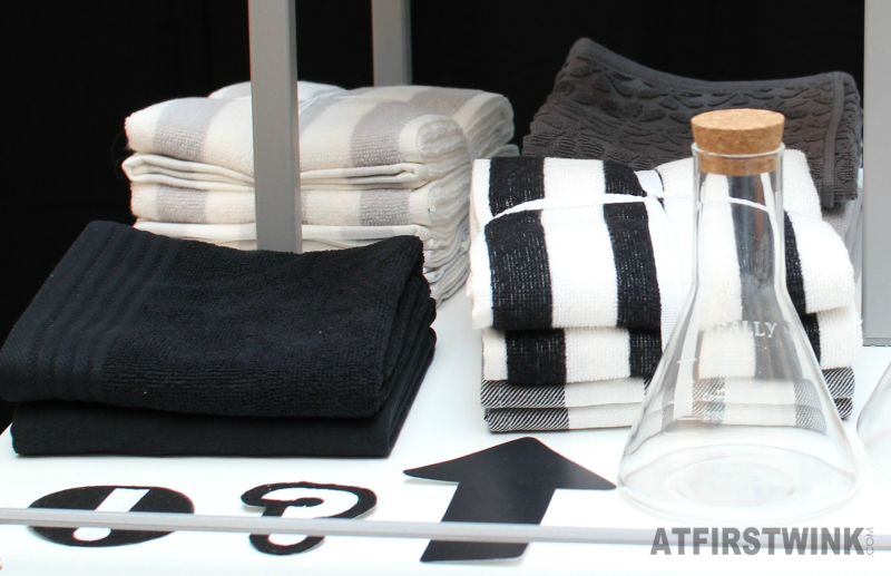 HEMA towels black white monochrome