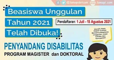 Beasiswa Unggulan 2021 Penyandang Disabilitas