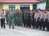 Dandim 0910/Malinau Pimpin Apel  Gelar Pasukan Operasi Ketupat  Kayan 2019 di Kab. Malinau