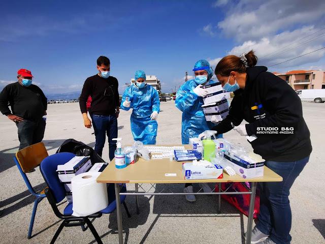 Συνεχίζονται τα rapid test στο Ναύπλιο