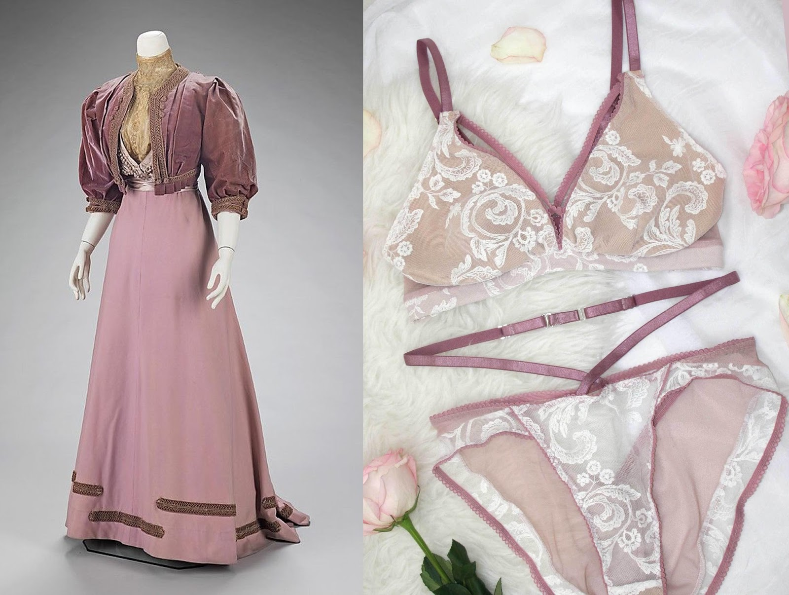 Period dresses-inspired lingerie / Lingerie inspirée par les robes d ...