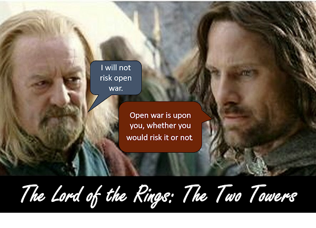 Lord of the Rings: The Two Towers discourse that relates.