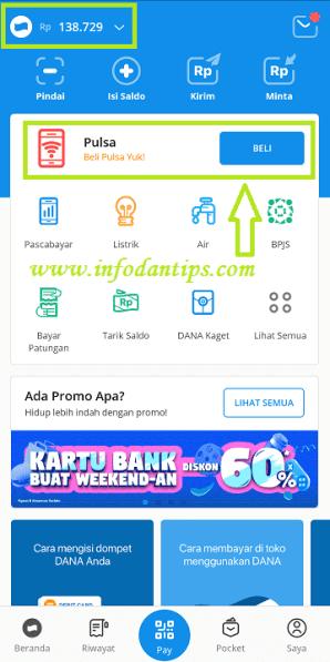 Cara Isi Pulsa By U Menggunakan Dompet Digital Dana