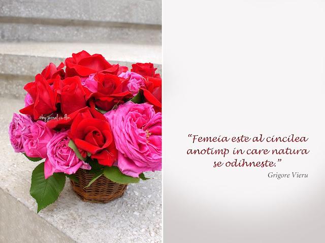 citat despre femeie Grigore Vieru si cos cu trandafiri