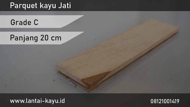 harga Jual lantai kayu Jati grade C