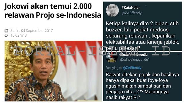 Jokowi Temui 2000 Pendukungnya, Netizen: Nggak Pake Duit Rakyat Kan Pak?