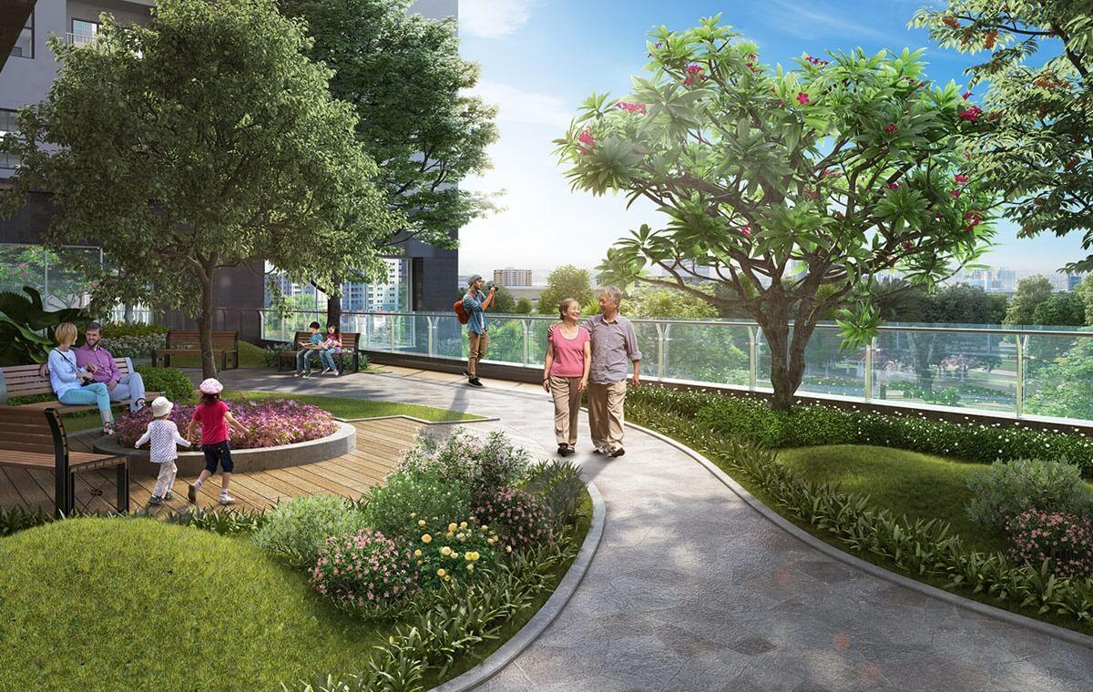 Không gian xanh chung cư Rose Town