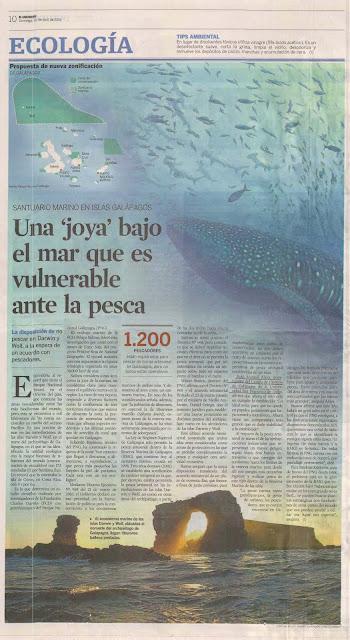 MEDIOS: Santuario Marino en Islas Galápagos: Una joya bajo el mar que es vulnerable ante la pesca