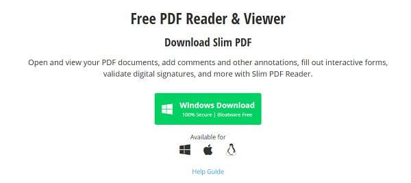 برنامج Slim PDF