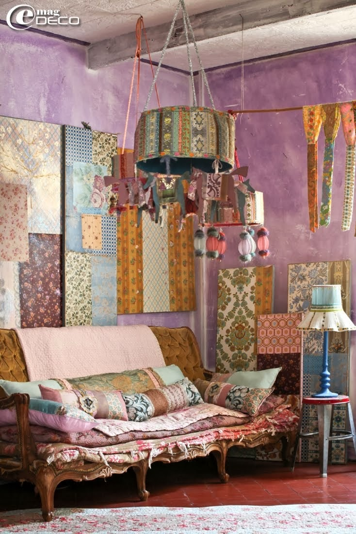 Pretty pastel bohemian styles - Boho chic living room decorating ideas ...