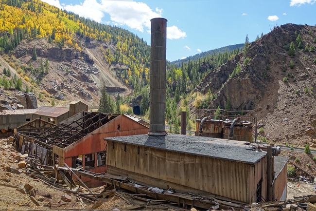 Abandoned Eagle Mine and Belden, Colorado Mining District
