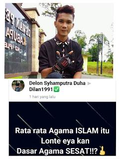 Viral !! Akun Diduga Penista Agama di Medsos Hebohkan Tanjabtim