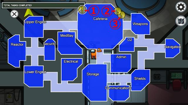 Cafeteria(カフェテリア)のタスクマップ説明画像