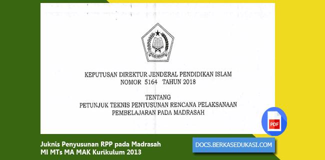 Juknis Penyusunan RPP MI MTs MA MAK Kurikulum 2013