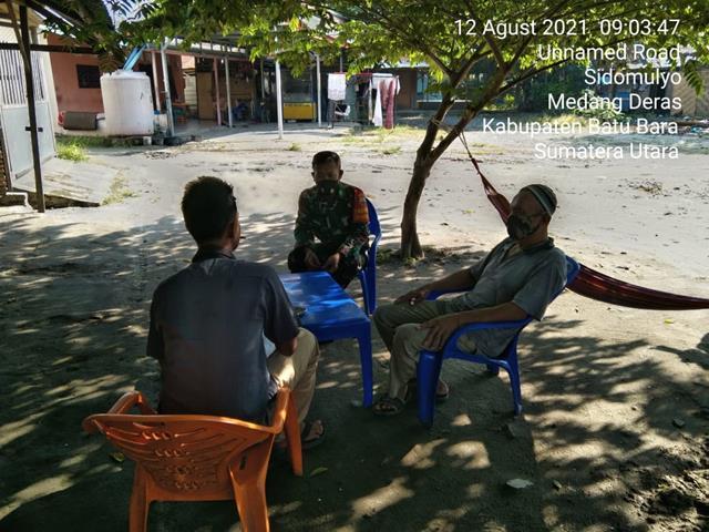 Jaga Keakraban, Personel Jajaran Kodim 0208/Asahan Laksanakan Komsos Bersama Dengan Mitra Karib