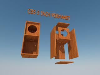 Cara Membuat skema Box Speaker CBC Untuk Speaker 6 inch Permanet