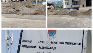 Diminta Jaga Kualitas, Proyek Paving Block Taman Kantor Bupati Disorot