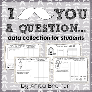 Data collection activities for kids with practice in taking surveys, graphing, and comparing results