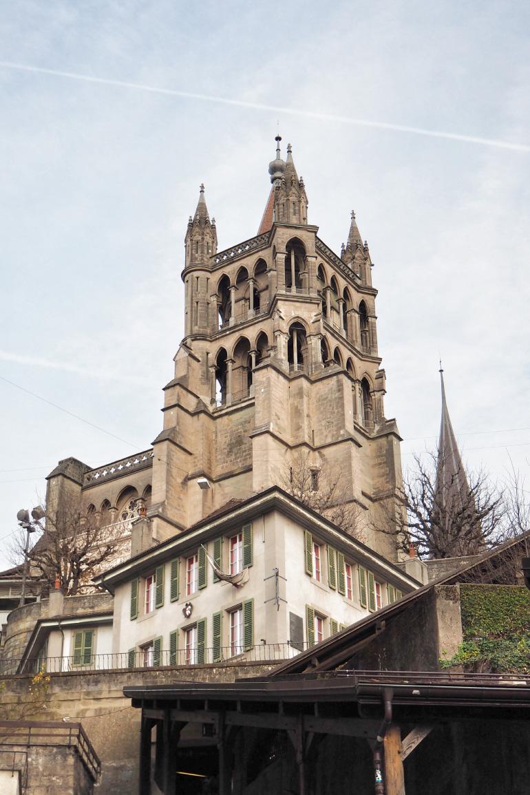 Cathédrale de la ville de Lausanne en Suisse