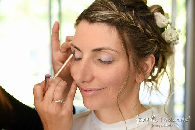 reportage photo mariage maquillage de la mariée