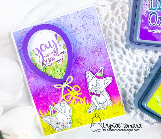 Yay! Have a paw-some birthday by Crystal features Balloon Shaker, Pug Hugs, Birthday Essentials, Paw-some Birthday, and Say Woof by Newton's Nook Designs; #newtonsnook