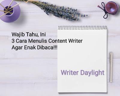Cara Menulis Content Writer