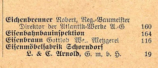 Robert Eichenbrenner in the 1925 directory for Schorndorf