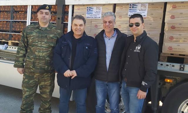 Μάκαρης και Καμπόσος έφτασαν στον Έβρο με την βοήθεια για τις Ελληνικές δυνάμεις