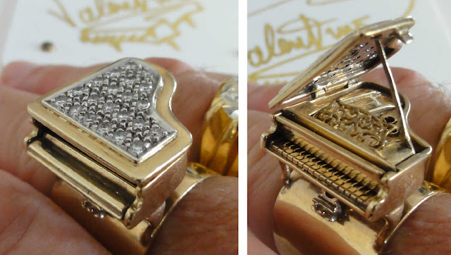 Liberace diamond piano ring