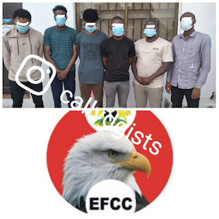 6 Yahoo Boys Arrested In Enugu – See Forfeited Cars, iPhones And Others