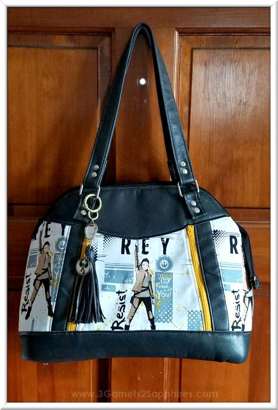 Custom Star Wars Handbag with Purse Charm   3 Garnets & 2 Sapphires