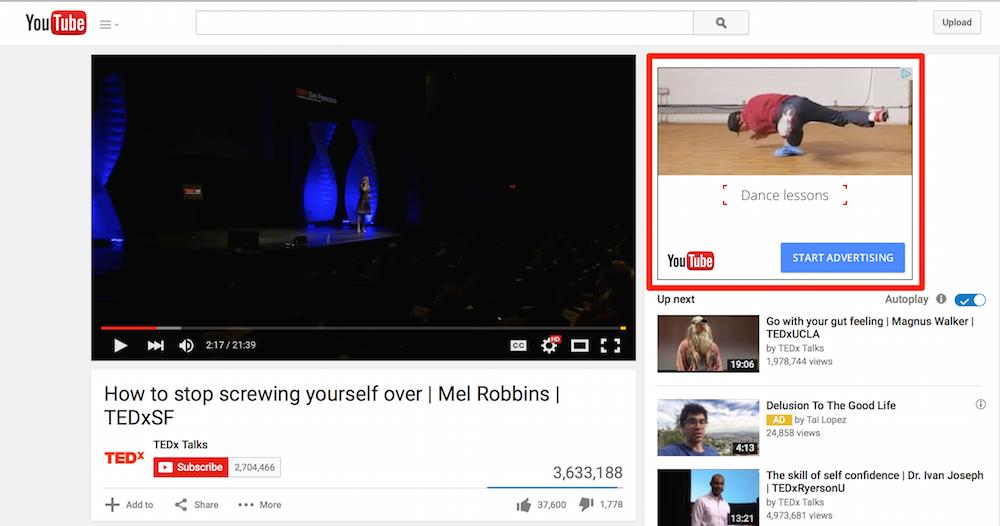 Iklan youtube Display ads
