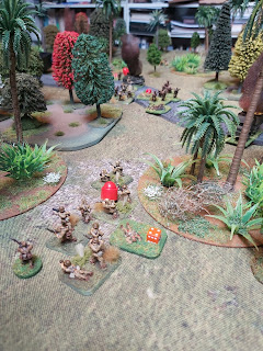 A firefight breaks out in the jungle