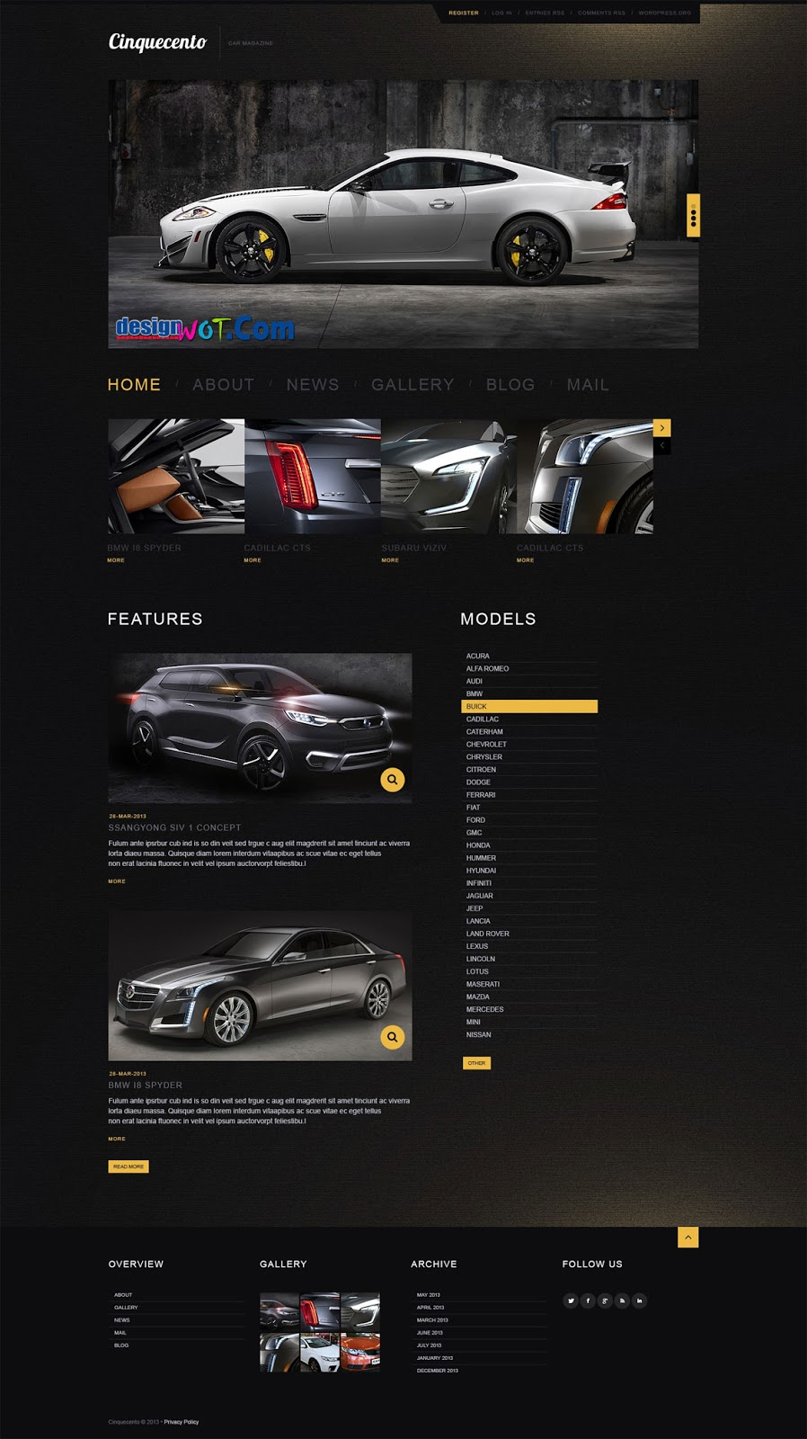 ELEGANT CAR Responsive Premium WordPress Theme