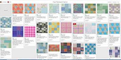 Faux Patchwork Fabrics on Pinterest