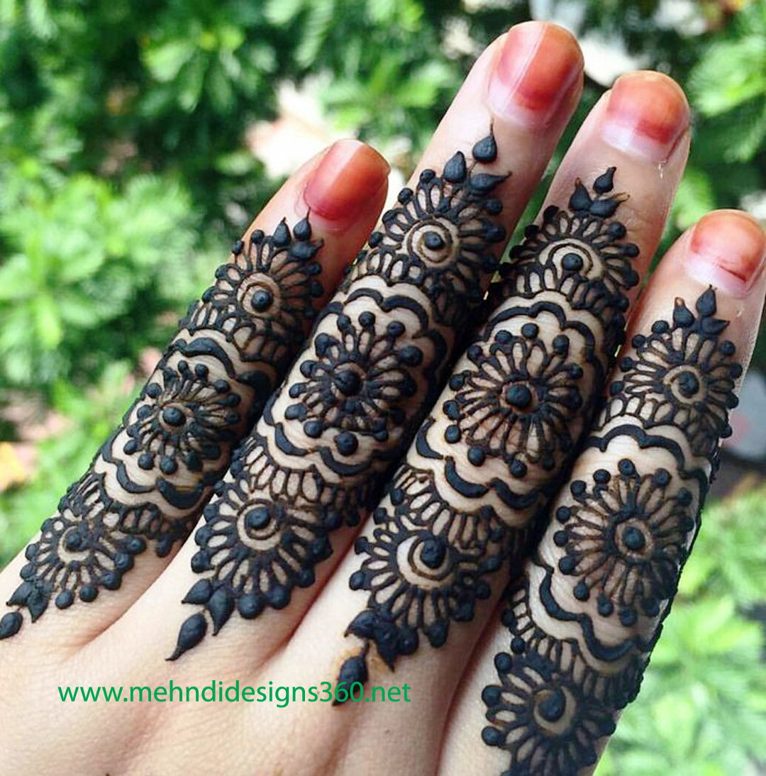 Only One Finger Mehndi Design 2019