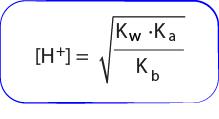 Rumus menghitung konsentrasi H+ garam hidrolisis total
