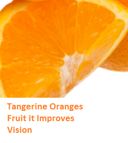 Health Benefits of Tangerine Oranges - Improves Vision