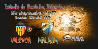 AGEN BOLA ONLINE TERBESAR - PREDIKSI SKOR LALIGA SPANYOL VALENCIA VS MALAGA 20 SEPTEMBER 2017