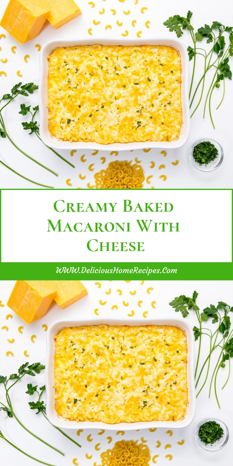 Creamy Baked Macaroni With Cheese