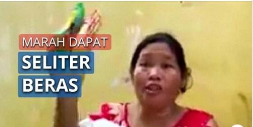 Viral Video Emak-Emak Marah karena Hanya Dapat Bansos Beras Seliter dan Mi Instan, Sebut Nama Jokowi