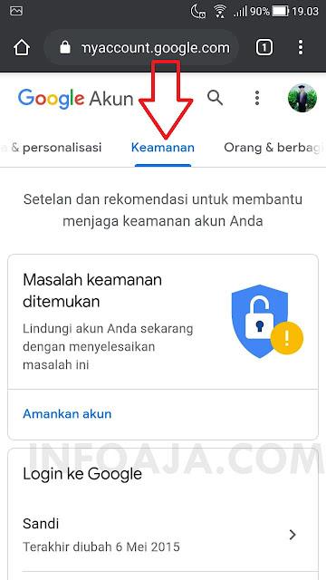 Keamanan di akun google