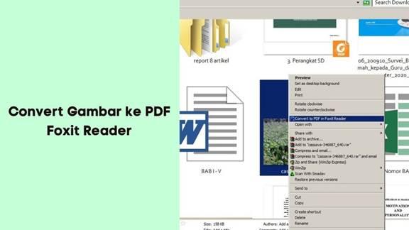 Convert Dokumen Word dan Gambar ke PDF Menggunakan Foxit Reader